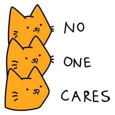Cats No One Cares Sticker