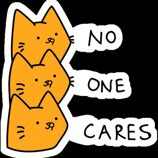Cats No One Cares Sticker
