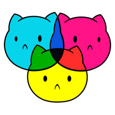 CMYK Cats Sticker