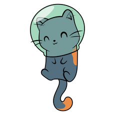 Cute Cat Astronaut Sticker
