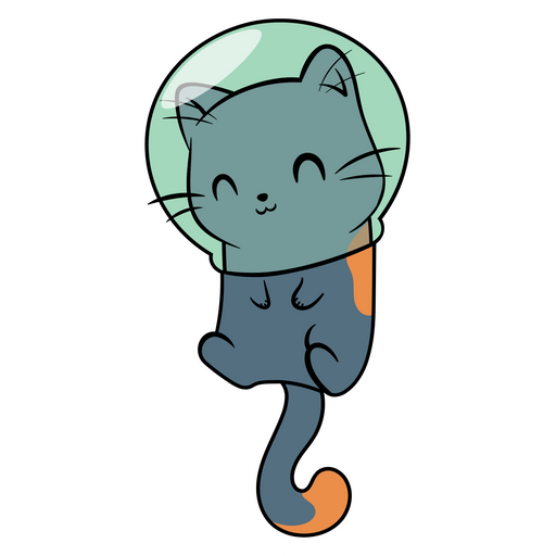 Cute Cat Astronaut Sticker
