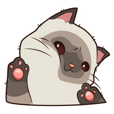 Cute Cat Want to Play Sticker