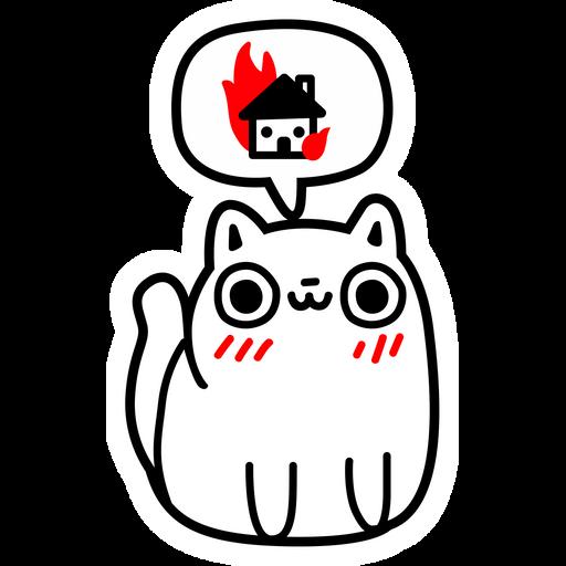 Cat Dreaming about Destruction Sticker