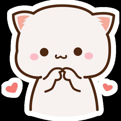 Embarrassed Mochi Mochi Peach Cat Sticker