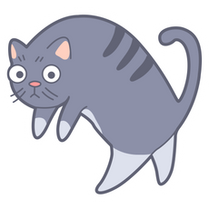 Frightened Cat Sticker