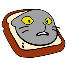 InBread Cat Sticker