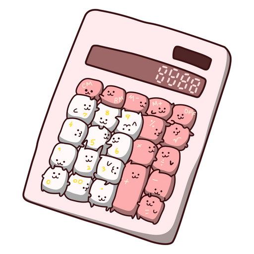 Pink Catculator Sticker