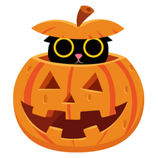Pumpkin Cat Sticker