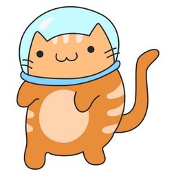 Red Cat Astronaut Sticker