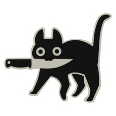 Knife Cat Sticker
