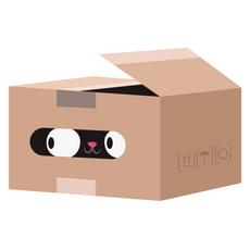 Black Cat in the Box Sticker