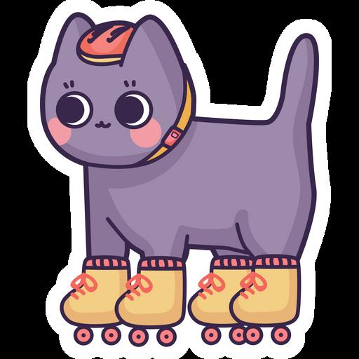 Cute Cat Roller Sticker