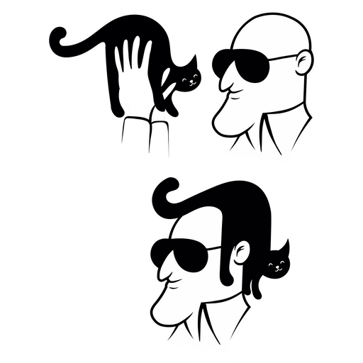 Easy Cat Hairstyle Sticker