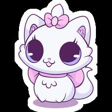 Lovely White Kitty Sticker