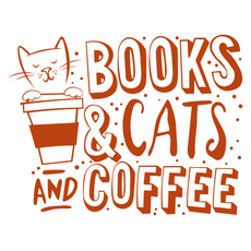 Books & Cats & Coffee Sticker