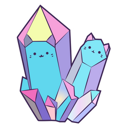 Colorful Crystal Cats Sticker