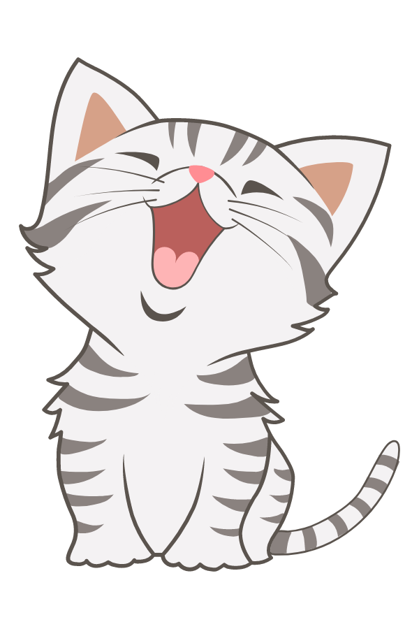 Grey American Shorthair Kitten Sticker