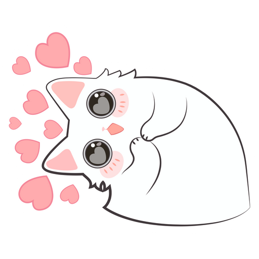 Lovely Cute Kitty Sticker