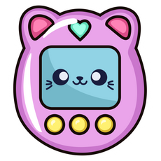 Tamagotchi Cat Sticker
