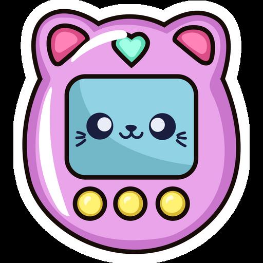 Tamagotchi Cat Sticker