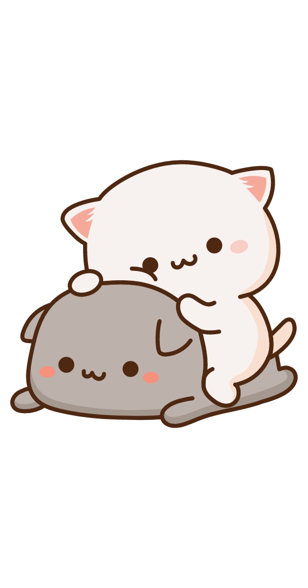 Cute Mochi Mochi Friends Cats Sticker