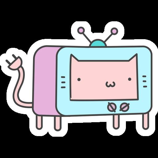 TV Cat Sticker
