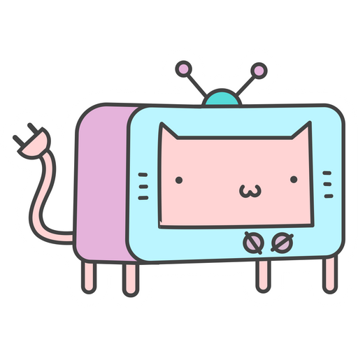 TV Cat Sticker