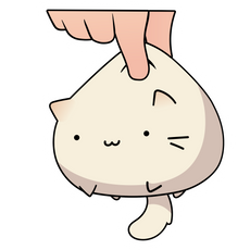 White Kawaii Kitten Sticker