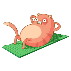 Workout Cat Sticker