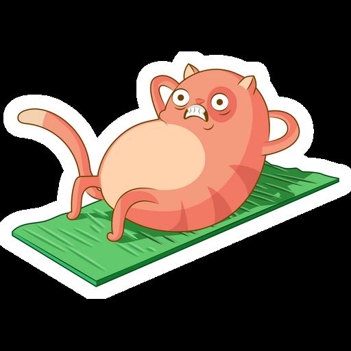 Workout Cat Sticker