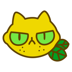 Lemoncat Sticker