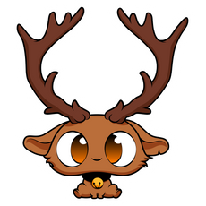 Cute Baby Deer Sticker