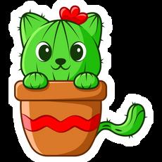 Cute Cactus Cat Sticker