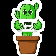 Cute Cactus Free Hugs Sticker
