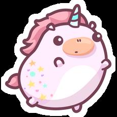 Cute Fat Unicorn Sticker