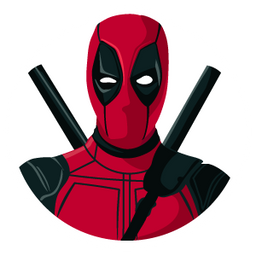 Deadpool in the White Circle Sticker