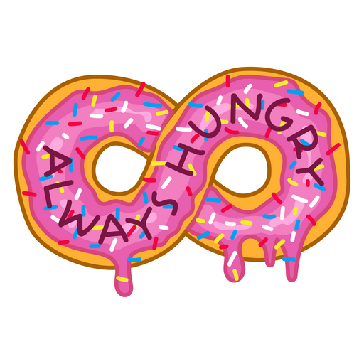 Always Hungry Donut Sticker