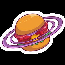Burger Saturn Sticker