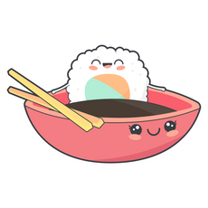 Cute Sushi and Soy Sause Sticker