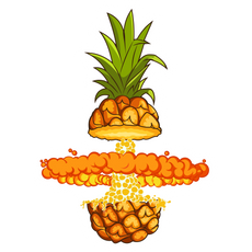 Explosive Pineapple Sticker