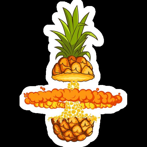 Explosive Pineapple Sticker