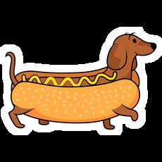 Hot Dog Dachshund Sticker