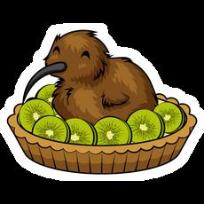 Kiwi Pie with Bird Sticker