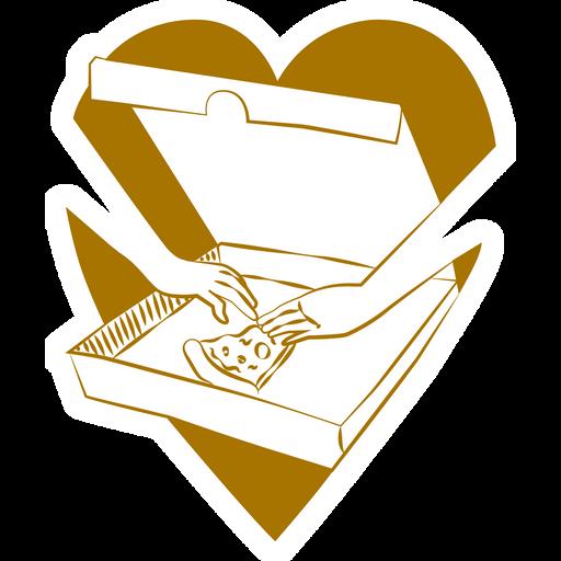 Last Pizza Slice Love Sticker