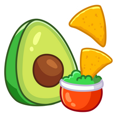 Nachos Chips and Avocado Sticker