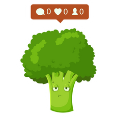 Nobody Follows Broccoli Sticker