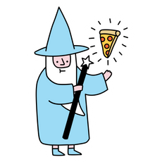 Pizza Wizzard Sticker