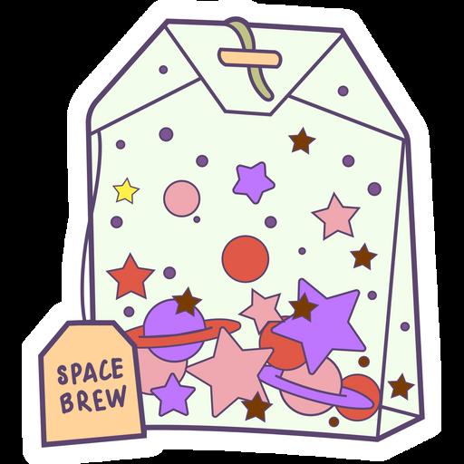 Space Brew Tea Bag Sticker
