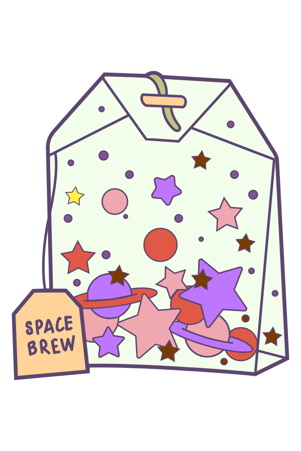 Space Brew Tea Bag Sticker