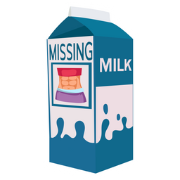 Milk Missing Six Pack Abs Sticker